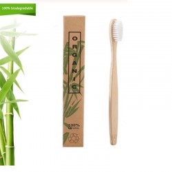 Бамбуковая зубная щетка с...